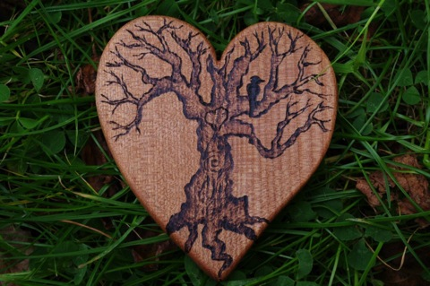 elm heart w tree